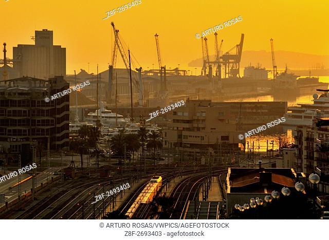 Tarragona Harbor from New Rambla