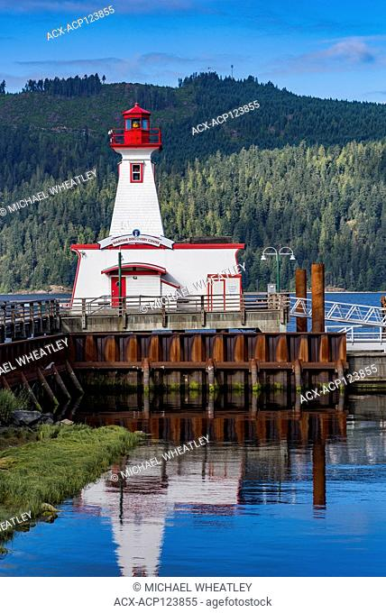 Lighthouse, Maritime Discovery Centre, Harbour Quay, Port Alberni, British Columbia, Canada