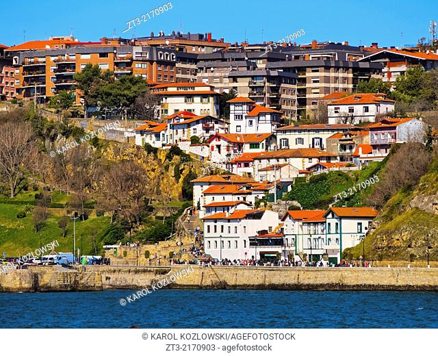 Algorta-Getxo - small town on the coast of Bilbao, Biscay, Basque Country, Spain