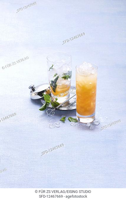 Singapore Sling PG-13 with pomegranate (alcohol-free)