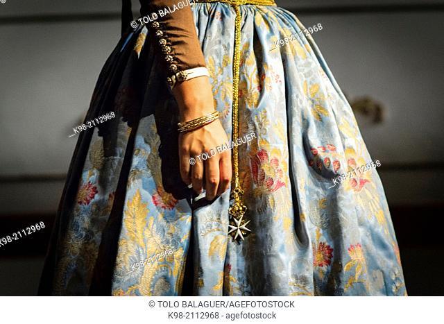 sample of traditional Majorcan clothing XVII to XX, Theater Terra i Mar, Palma, Mallorca, Balearic Islands, Spain