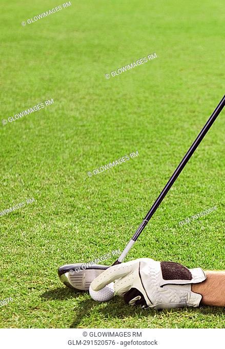 Man playing golf in a golf course, Biltmore Golf Course, Coral Gables, Florida, USA