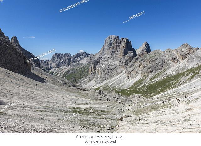 Vajolet valley ant the Catinaccio group, dolomites, Fassa valley, Trentino South Tyrol, Italy