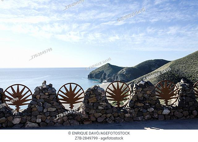 A landscape view in Dead beach, Almería province, Spain