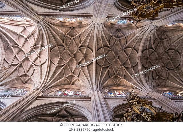 The crossing of naves of Cathedral Nuestra Senora de la Asuncion y de San Frutos de Segovia, take in Segovia, Spain