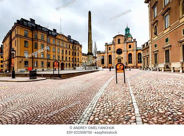 Royal Palace and Cathedral of Saint Nicholas (Storkyrkan) in Sto