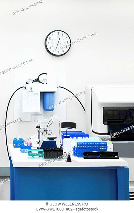 Medical equipments in a laboratory
