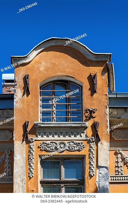 Bulgaria, Southern Mountains, Plovdiv, Old Plovdiv building detail