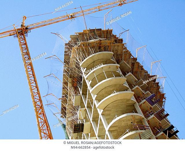 Hotel Hilton under construction. Avenida de las Cortes Valencianas, 52, Valencia, Spain