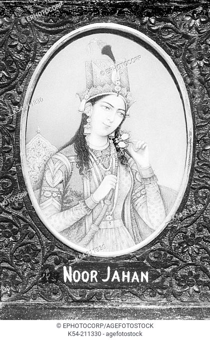 An old painting of 'Noor Jahan'