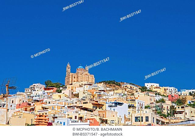 Hermoupolis with St Nicholas Cathedral, Greece, Syros