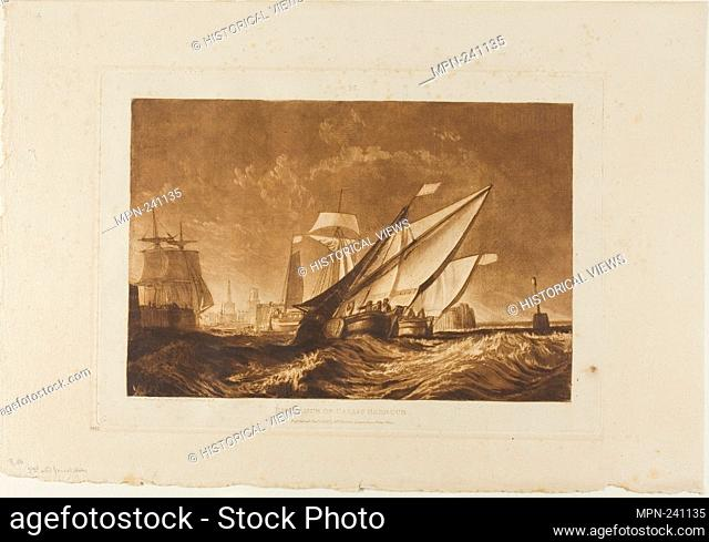 Entrance of Calais Harbour, plate 55 from Liber Studiorum - published January 1, 1816 - Joseph Mallord William Turner English