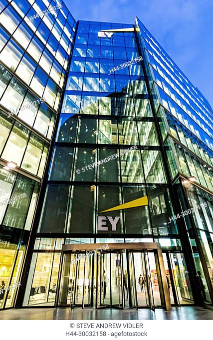 England, London, Southwark, London Bridge City, More London Riverside Office Complex, The EY (Ernst and Young) Building
