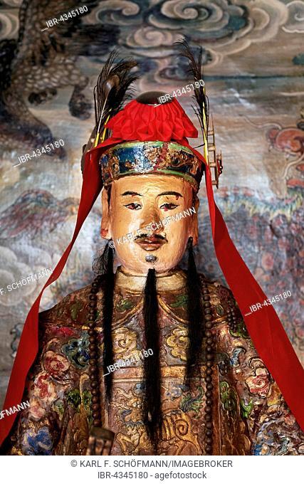 Holy Statue in Hung Shing or Tai Wong Temple, Ping Shan Heritage Trail, Hang Mei Tsuen, Yuen Long District, New Territories, Hong Kong, China