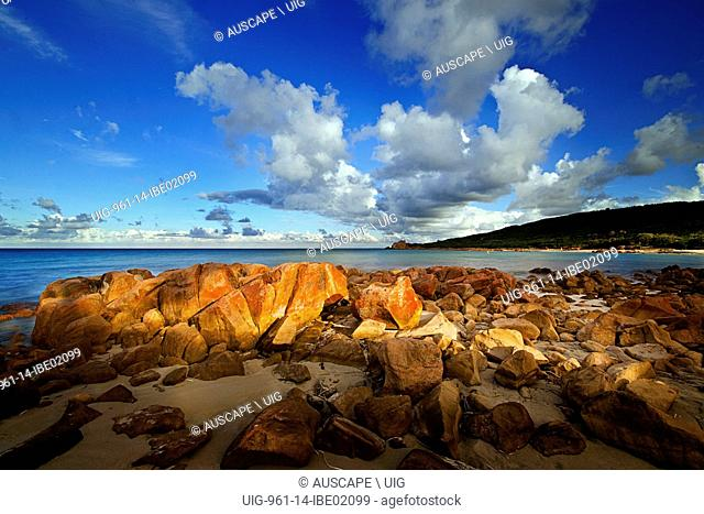 Castle Rock Bay, once a resting point for whalers, now a popular tourist area, Geographe Bay near Dunsborough, Margaret River area, Western Australia, Australia