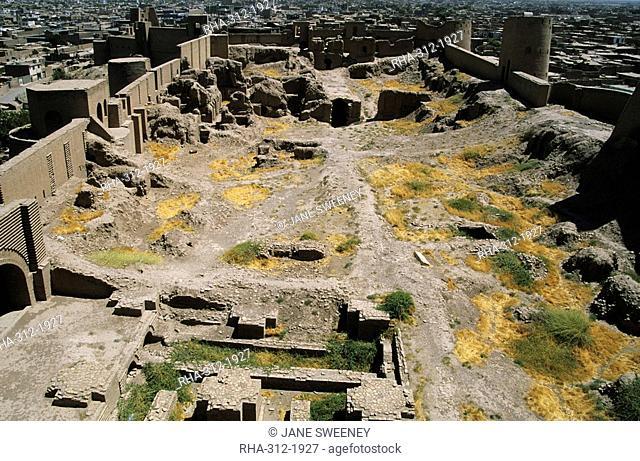 Inside The Citadel Qala-i-Ikhtiyar-ud-din, originally built by Alexander the Great, but built in its present form by Malik Fakhruddin in 1305 AD, Herat