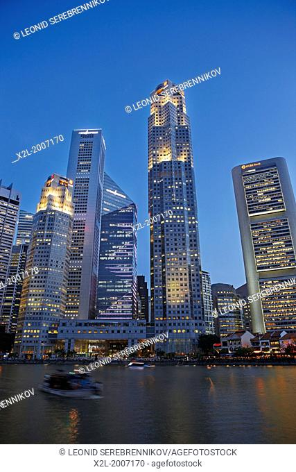Skyscrapers in Central Business District, Singapore