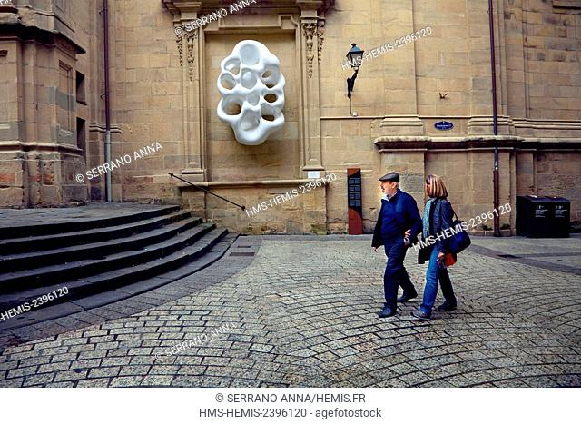 Spain, Basque Country, Guipuzcoa province (Guipuzkoa), San Sebastian (Donostia), European capital of culture 2016, Parte Vieja, Old Town, Santa María Church