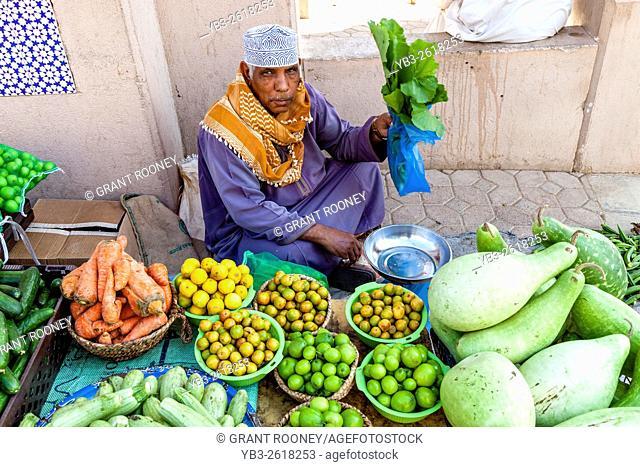 Fruit and Vegetable Market At The Nizwa Souk, Nizwa, Ad Dakhiliyah Region, Oman