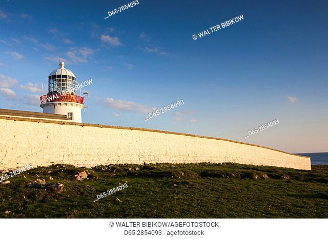 Ireland, County Donegal, St. John's Point, St. John's Point Lighthouse, dusk
