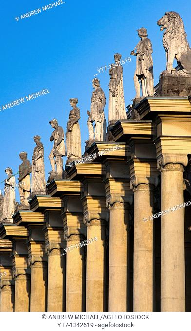Residenz columns and statues, Munich, Germany