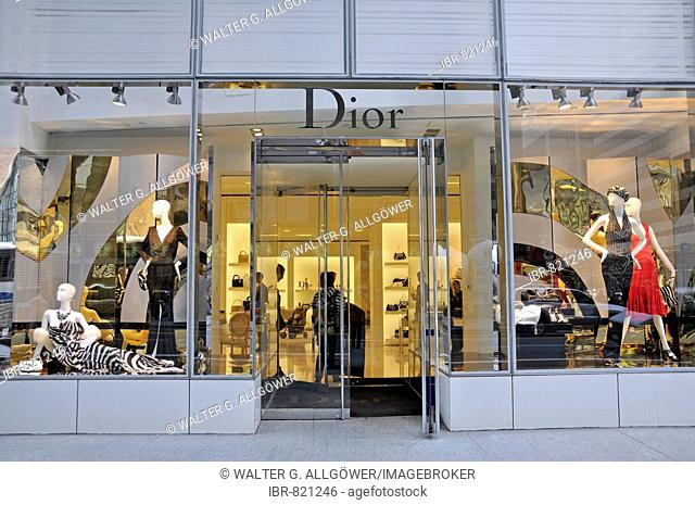 Dior boutique in Manhattan, New York City, USA