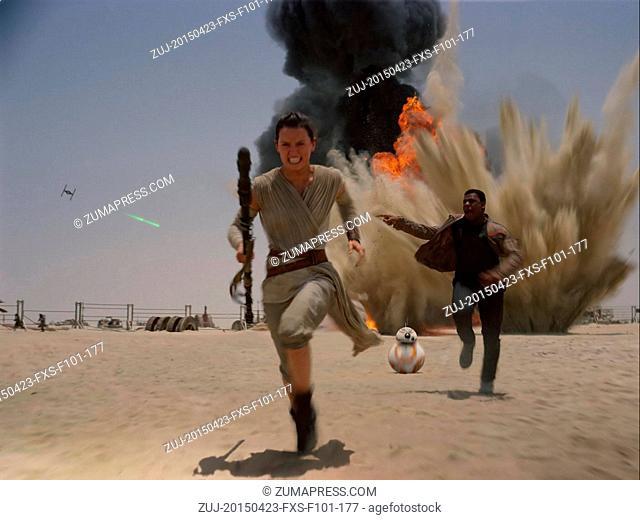 April 23, 2015 - Hollywood, USA - STAR WARS: EPISODE VII - THE FORCE AWAKENS (2015).DAISY RIDLEY, JOHN BOYEGA.J.J. ABRAMS (DIR)