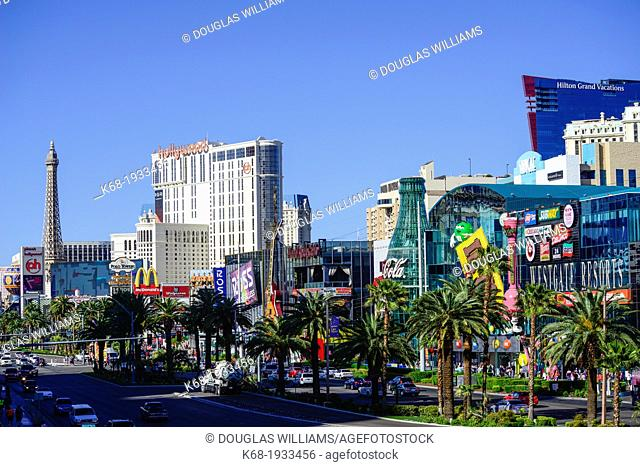 a view of the Strip in Las Vegas, Nevada, USA