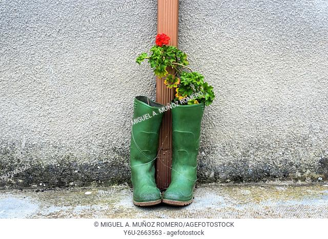 A pot wellies, Burgos, Spain