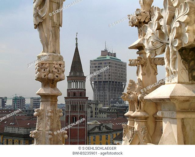 view from Milan Cathedral, Italy, Milan