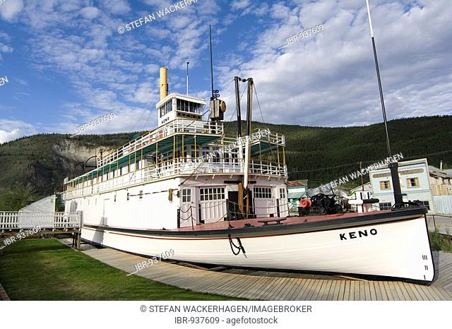 Historic paddle wheel steamer S.S. Keno, Dawson City, Yukon Territory, Canada, North America