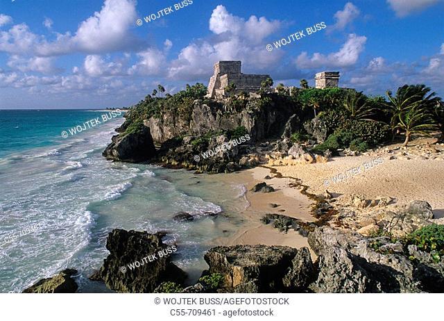 Mayan ruins. Tulum, Yucatan, Mexico