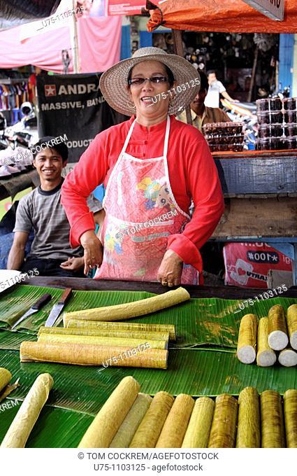 street food court jambi sumatra Indonesia