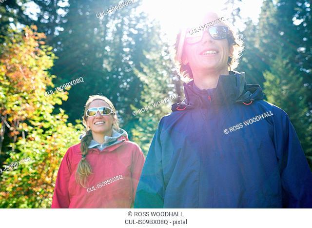 Hikers on sunny day's trek