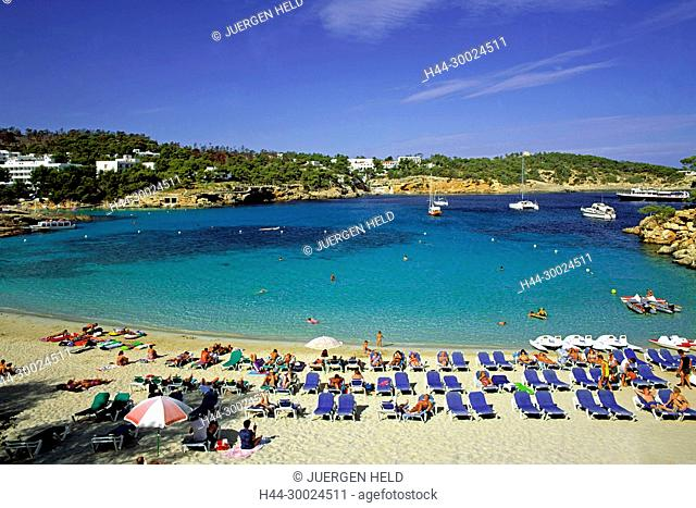Spain, Ibiza, Cala Portinatx, beach