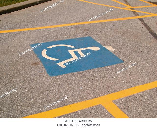 parking space, Reserved Parking for Handicapped, parking lot