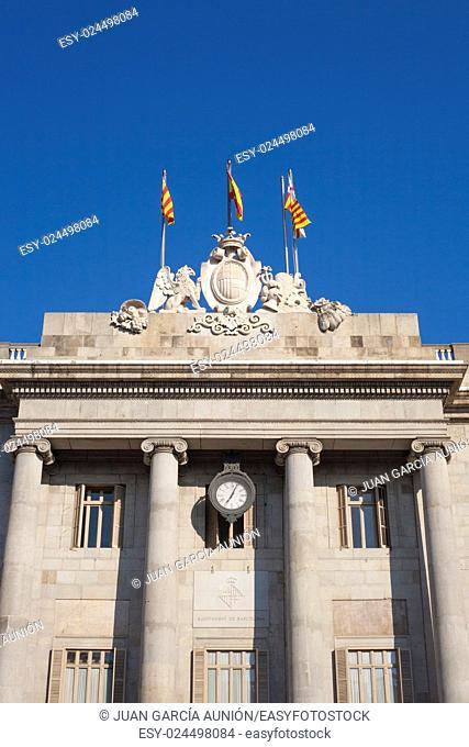 Casa de la Ciutat or Town Hall building of Barcelona, Spain
