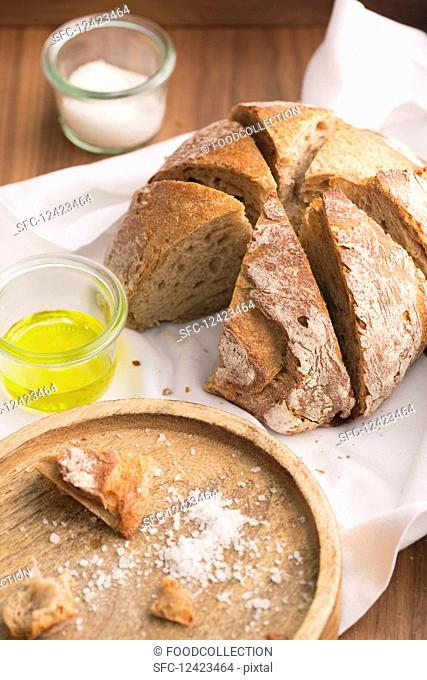 Bread, salt and olive oil