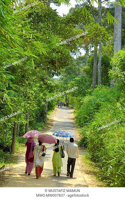 Bangladeshi tourists visit Dulahazra Safari Park at Chokoria about 107 kilometers from Chittagong town and 40 kilometers from Cox's Bazar town The park is now a...