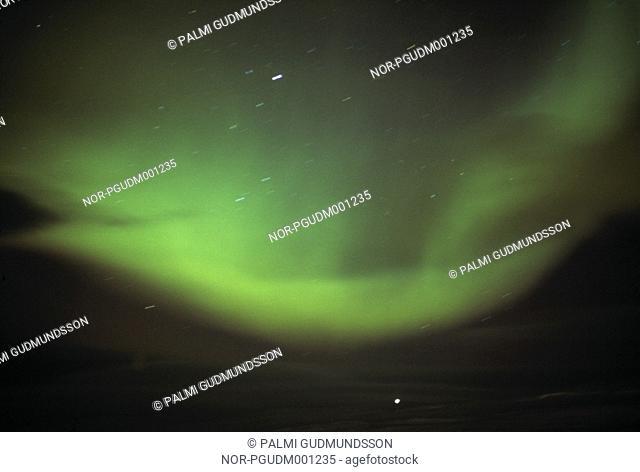 A green northern light