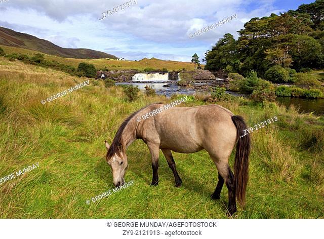 Aasleague Falls, Near Leenaun, County Galway, Ireland