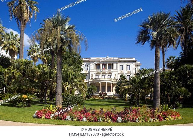 France, Alpes Maritimes, Nice, Promenade des Anglais, Musee Massena