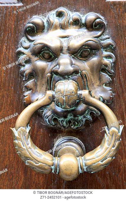 France, Provence, Avignon, door knob, architecture, detail