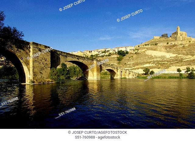Puente Medieva, Rio Ebro, San Vicente de la Sonsierra, La Rioja, Spain