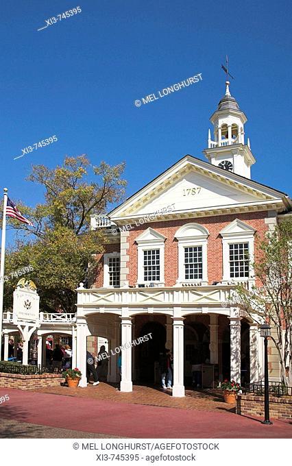 The Hall of Presidents, Liberty Square, Magic Kingdom, Disney World, Orlando, Florida, USA