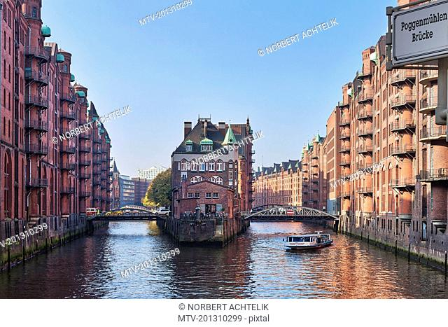 Warehouse buildings at Speicherstadt