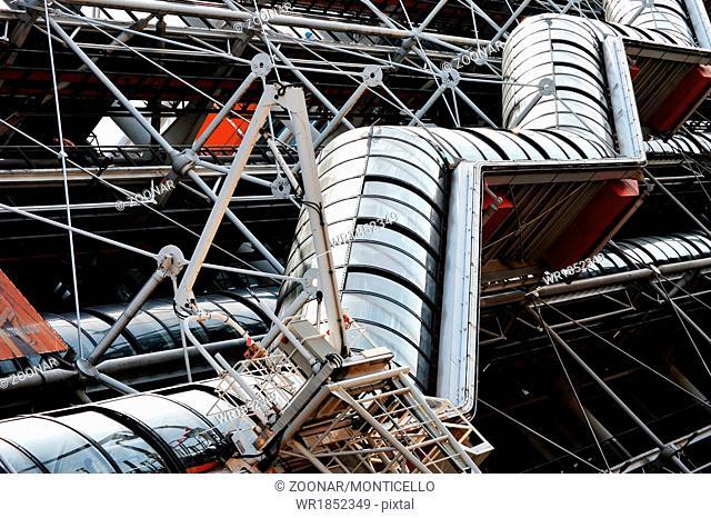 Centre Georges Pompidou in Paris. Museum of modern art
