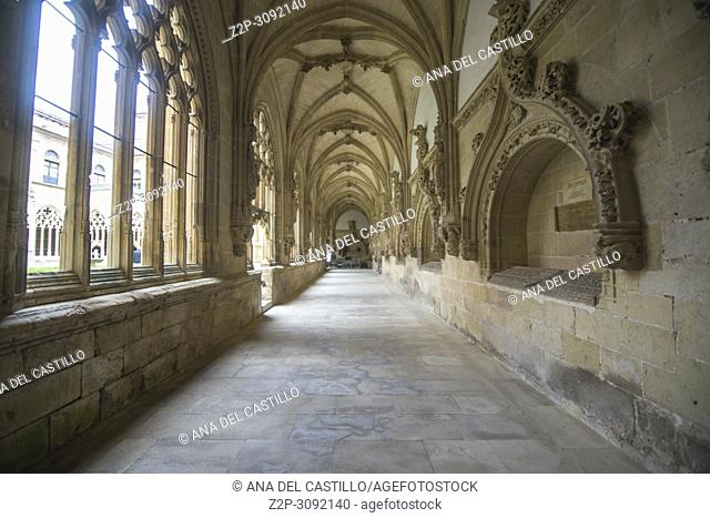 Cloister of The Monastery of San Salvador (Holy Savior) Benedictine monastery in the town of Oña, province of Burgos Spain
