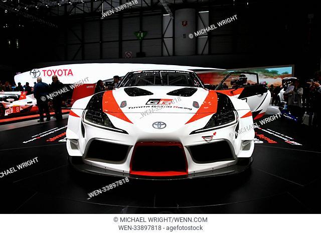 The cars of the Geneva International Motor Show Featuring: Toyota GR Supra Racing Concept Where: Geneva, Switzerland When: 07 Mar 2018 Credit: Michael...