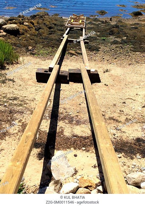 A ramp for a boat launch, Halifax, Nova Scotia, Canada